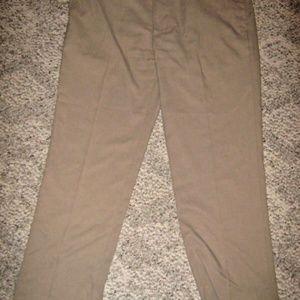 PGA TOUR Tan 4 Pocket Flat Front Dress Pants 38